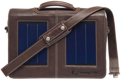 SunnyBAG Business Professional Leather Solar Power Bag