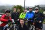 Happy cyclists